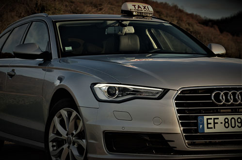service de transport en taxi haut de gamme, audi A6